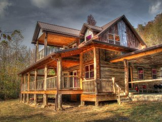 New Craftsman Style River House sitting on the French Broad River!