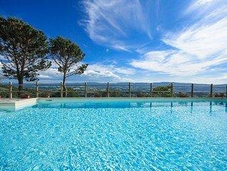 Top Tuscany apt with pool near Florence In Chianti, WIFI, fenced garden, VIEW
