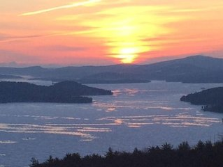 One of the best views of Lake Winnipesaukee, mountains, sunrises and sunsets