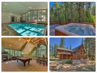 Riverside 6 Bed 6 Bath Indoor Pool & Hot tub & Sauna & Steam Shower In Tahoe !!