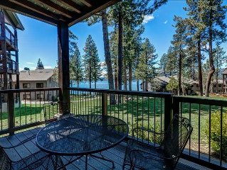 Lakeview unit steps from Tahoe. Year round lakefront pool, saunas, fitness cent