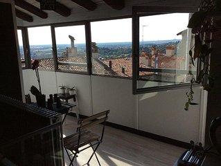 Loft con vista panoramica nel cuore di Bergamo Alta
