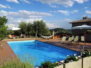Two Bedroom Apartment close to Lake Trasimeno, with great view over landscape
