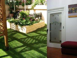 Appartamento indipendente in centro con giardino