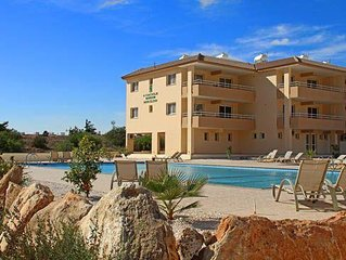 Nissi Beach 2 bedroom Penthouse - pool and seaview