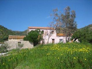 Traditional Sardinian Farm House, Terrace, Garden,  Close to Sea and Beach