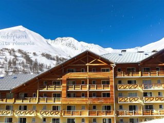 Nice 2 Bedrooms / 8 pers. Apartment with balcony en Val d'Allos - 3* residence