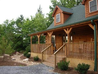 Mountaintop Luxury Log Cabins in 'Land of Waterfalls' - Privacy, Luxury, Beauty