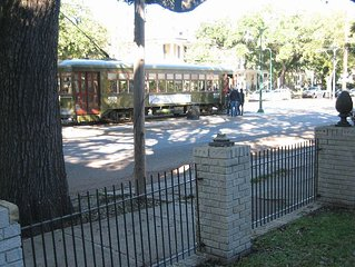 Directly on the streetcar line in the world famous Garden District