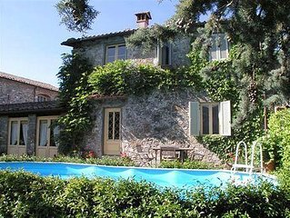 CHARMING VILLA in Coreglia Antelminelli with Pool & Wifi. **Up to $-168 USD off