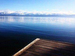 BEAUTIFUL FLATHEAD LAKE  W/ MOUNTAIN VIEW