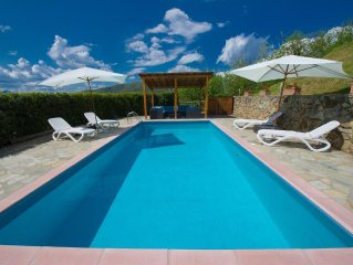 Stunning hilltop house in Barga, Tuscany with private pool and spectacular views
