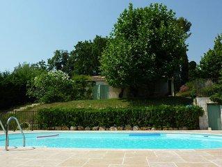 Villa avec piscine,  Opio, 9 personnes, 4 chambres, clim, au calme
