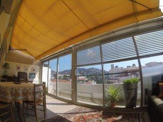 Entre PLAGE et rue d'Antibes, quartier CROISETTE, 60m2, 200m MER, dernier étage