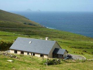 Geräumiges Haus mit spektakulärer Aussicht auf die Skelligs in County Kerry.