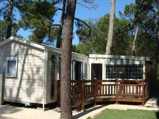 Mobilhome 4 pers, terrasse couverte/fermee, camp****Les Jardins de l'Atlantique