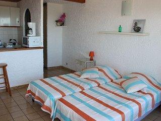 Sea view studio rental at 800m beach of Sant Ambr
