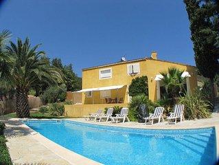 Propriete climatisee, piscine chauffee entre Cannes, Frejus & Mandelieu