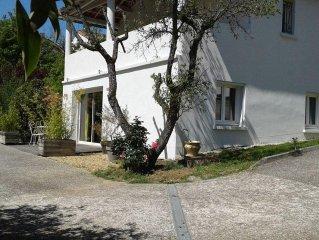 bel appartement en rez-de-jardin dans villa proche du centre ville