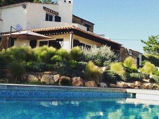 vues mer et collines,7 chambres, piscine chauffée, Bandol St Cyr sur Mer Sanary