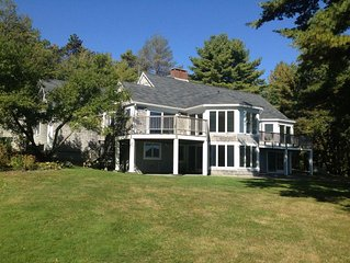 Charming Oceanfront Home on Blue Hill Bay with Views of Acadia National Park.
