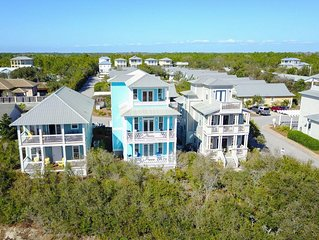 Home With Gulf Views On 30-A-Just Steps To The Beach;-4 Bikes Included