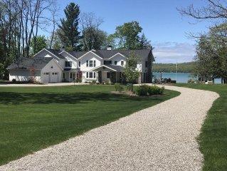 Fabulous Glen Lake Vacation Home 6 Bedrooms & 8 Baths - 200' shoreline w/beach