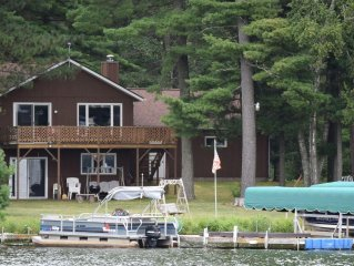 Big St Germain Lake House - Secluded 3 Acre setting with stream running through