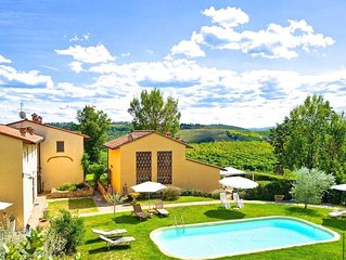 Lovely house with stunning views and pool perfectly located close to Florence