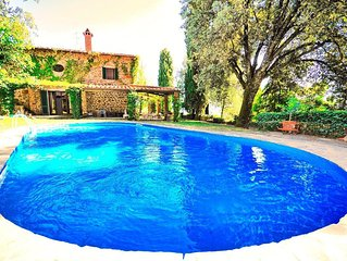 Large stone-built villa with private swimming pool set in perfect location