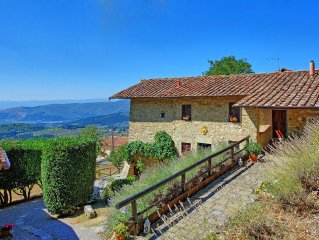 Superb villa with private pool and jacuzzi located right above Florence
