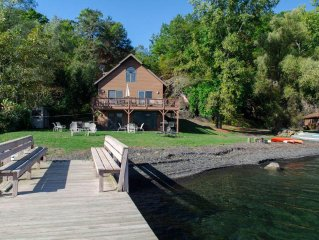 """Brookside:""""A Beautiful Chalet Style Getaway on the Shore of Seneca Lake"""""""
