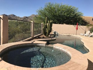 Quiet, Modern Home W/ Pool and Jacuzzi, Desert Landscape Views