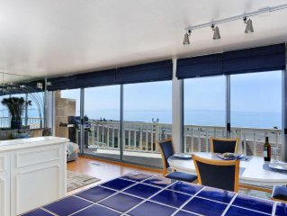 Ocean View condo in Aptos, 1 block to Sand, 2BR/2BA, Pool, Deck, Linens Incl'd