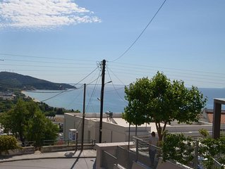 Beautiful clean and spacious family apartment with view to the sea and forest