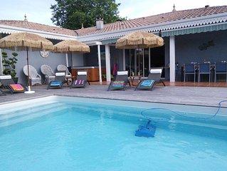 LA CARAIBE  grande villa  , avec spa et piscine chauffee a 28o