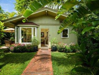 Serene Private Updated 'AAA' Kihei Garden Cottage: On Ocean front Halama Street