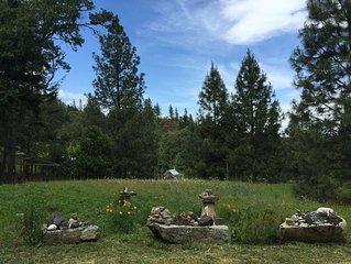 Quiet Forest Retreat near Ashland, Medford, & Jacksonville. Kid & Dog Friendly