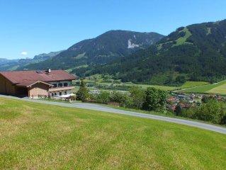 Behaglich eingerichtete FeWo; fantastisches Panorama; toller Wohlfuhlgarten