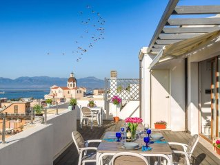 Beautiful new apartment with a breathtaking and unique view of Cagliari.
