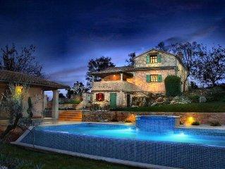 Istrisches Landhaus mit großem Pool in ruhiger Lage und atemberaubenden Ausblick