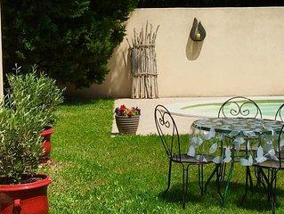 Belle villa, campagne provençale, piscine privée 3 ch, 4 à 6 personnes