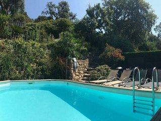 Jolie maison individuelle climatisée avec une piscine privative sans vis à vis