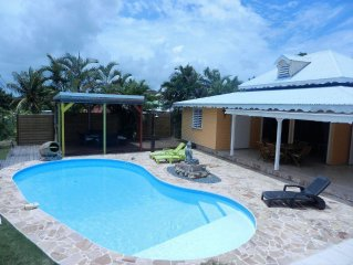 Between Saint François and Le Moule, Villa Creole with private pool, air condit