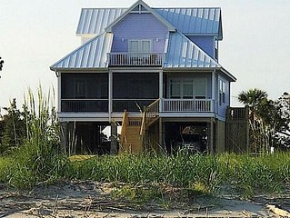 VIEWS VIEWS VIEWS! OCEANFRONT 4 Bedroom Home with Private Boardwalk to Beach