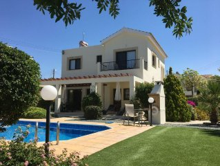 Luxury 3 bedroom villa with pool and gardens.