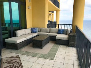 Stunning, gulf front luxury condo! Updated, custom features! Lazy river, slides!