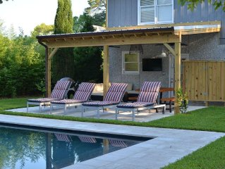 Renovated House with Heated Saltwater Pool! Walk to Village, Beach Parks and Pie