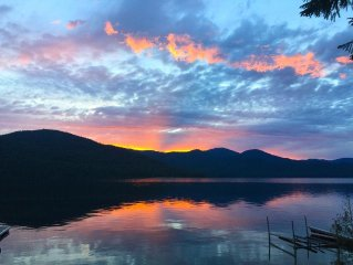 A Priest Lake Waterfront Gem! A Rich & Colorful Beauty, Just Steps to the Water.