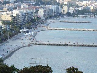 Pres des plages et des commerces vue mer laterale, exposition sud-ouest